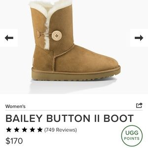 UGG Bailey Button Boot in Chestnut